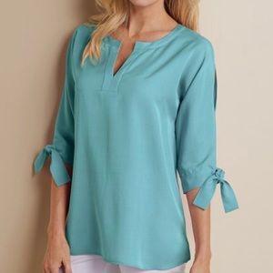 Cold Shoulder Tencel® Shirt - Soft Surroundings